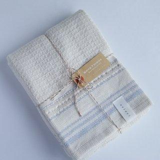 ボタニカルワッフル ふっくら軽い3重織りフェイスタオル/ブルーベリー/今治タオル