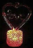 LEDガラス工芸 『イルミネーション・オブジェ』シリーズ LOVE