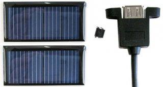 携帯ソーラー充電器キット