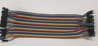 ブレッドボード・ジャンパーコード(オス−メス)(20cm・10色×4)