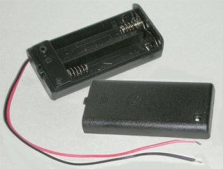 電池ボックス 単3×2 リード線ふた付き スイッチ付き