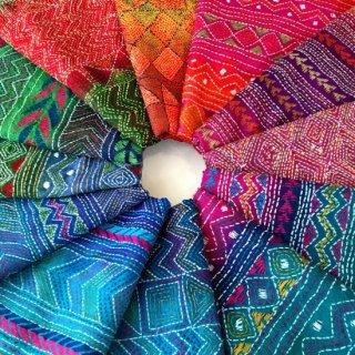 シルクカンタ(刺し子刺繍)ストール