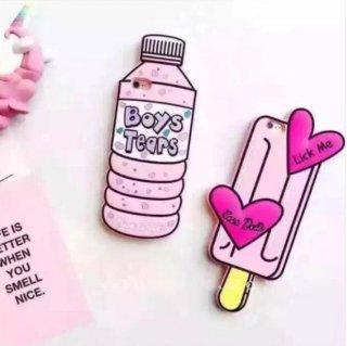 予約 新作 iPhone7 も‼  アイス キャンディー & ボトル ドリンク  ピンク カラー iphoneケース スマホケース iPhone6s iPhone6 iPhone6Plus