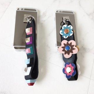 予約 マルチカラ— スタッズ ・ フラワー ベルト iphoneケース スマホケース iPhone6s iPhone6 iPhone6Plus iPhone7 7Plus