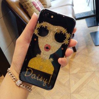 予約 グリッター デコラティブ ドール  iphoneケース iPhone6 6Plus iPhone7/8 7Plus/ 8Plus X