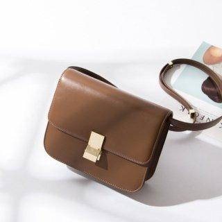 予約 5color シンプル プレート 金具 ショルダー バッグ