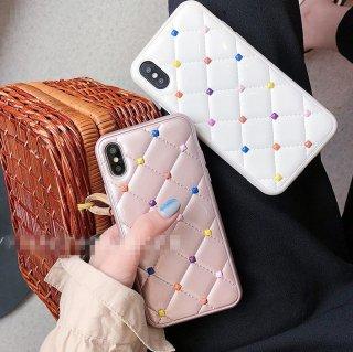 予約 2color 3D 立体 チェック カバー iphoneケース