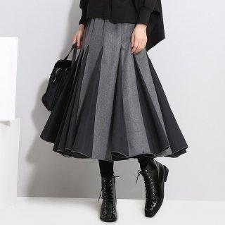 予約 2color デザイン 配色 バイカラー スカート