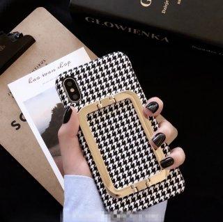 予約 千鳥格子 iphoneケース iphoneカバー BLACK