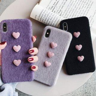 予約 3color ハートモチーフiphoneケース iphoneカバー