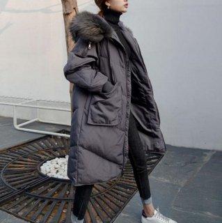 予約 2color  ビックファー オーバーサイズ ロングコート