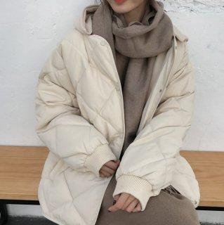 予約 フード付き キルティング ジャケット コート アウター 中綿コート