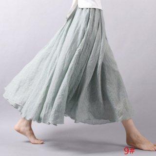 予約 21color ロング マキシ丈 スカート