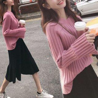 予約 ニット セットアップ セーター + スカート