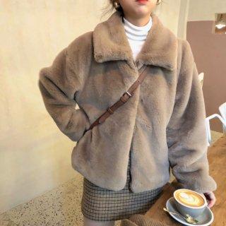 予約 もふもふ ファー ショート丈 コート