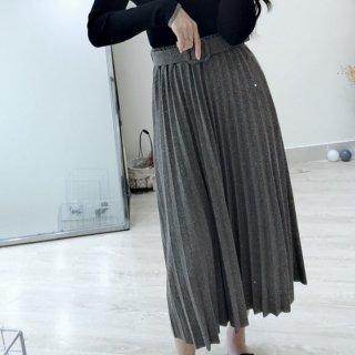 予約 2color プリーツ ウィンター スカート