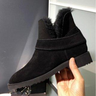 ムートン ファー ベルト ブーツ
