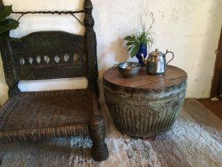 インドの古いミニテーブル
