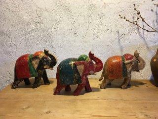 インド 古い彩色の象