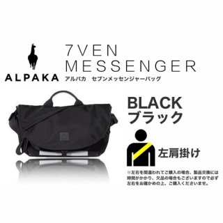 【即納可能】7VEN メッセンジャーバッグ ブラック 左掛け