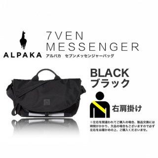 【予約受付中 / 8月下旬入荷予定】7VEN メッセンジャーバッグ ブラック 右掛け