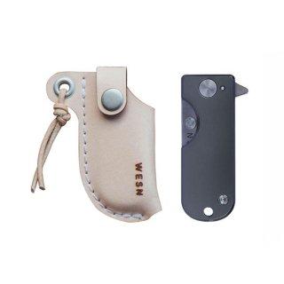 【即納可能】WESN ナイフ本体+専用レザーケースセット