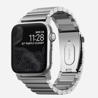 【6月下旬入荷予定・予約受付再開】Apple Watch 42/44 mm 用 NOMAD Titanium Band シルバー