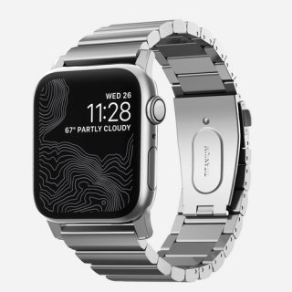 【即納可能・Apple Watch Series 1~5 対応】Apple Watch 42/44 mm 用 NOMAD Titanium Band シルバー