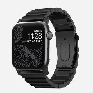 【即納可能・Apple Watch Series 5 / 4 / 3 / 2 / 1 対応】Apple Watch 42/44 mm 用 NOMAD Titanium Band ブラック