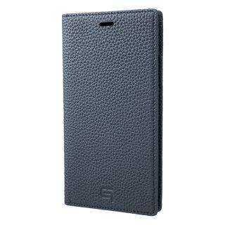 iPhone X / XS / XS Max / XR 用 GRAMAS Shrunken-calf Full Leather Case ネイビー