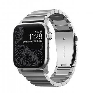 【即納可能・Apple Watch Series 1から5 対応】Apple Watch 42/44 mm 用 NOMAD Stainless Steel Band シルバー<img class='new_mark_img2' src='https://img.shop-pro.jp/img/new/icons61.gif' style='border:none;display:inline;margin:0px;padding:0px;width:auto;' />