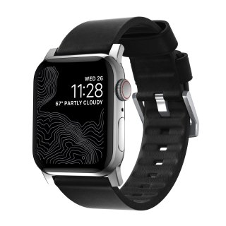 【即納可能・Apple Watch Series 6/SE/5/4/3/2/1対応】NOMAD Active Strap ブラック(シルバー金具)42mm/44mm<img class='new_mark_img2' src='https://img.shop-pro.jp/img/new/icons61.gif' style='border:none;display:inline;margin:0px;padding:0px;width:auto;' />