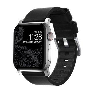 【即納可能・Apple Watch Series 1から5 対応】Apple Watch 42/44 mm 用 Active Strap ブラック(シルバー金具)<img class='new_mark_img2' src='https://img.shop-pro.jp/img/new/icons61.gif' style='border:none;display:inline;margin:0px;padding:0px;width:auto;' />