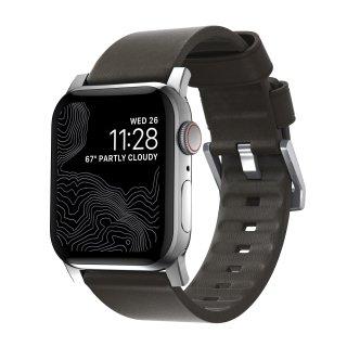 【即納可能・Apple Watch Series 1から5 対応】Apple Watch 42/44 mm 用 Active Strap モカブラウン(シルバー金具)<img class='new_mark_img2' src='https://img.shop-pro.jp/img/new/icons61.gif' style='border:none;display:inline;margin:0px;padding:0px;width:auto;' />