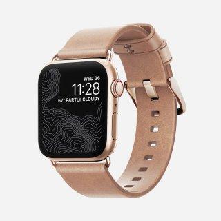 【即納可能・Apple Watch Series 6/SE/5/4/3/2/1対応】NOMAD Horween Leather Modern Strap ナチュラル(ゴールド金具)38mm/40mm