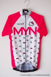 <img class='new_mark_img1' src='https://img.shop-pro.jp/img/new/icons5.gif' style='border:none;display:inline;margin:0px;padding:0px;width:auto;' />MYN x HELLO KITTY サイクルジャージ-WHTPNK