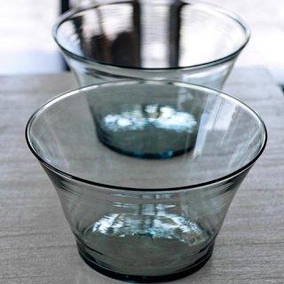 果物鉢(クリア・青緑)