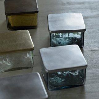 バターケース(リサイクル瓶クリア・真鍮)