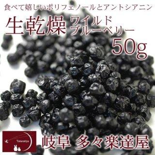 ワイルドブルーベリー50g 岐阜 多々楽達屋(たたらちや)ドライフルーツ【常温・冷蔵可】