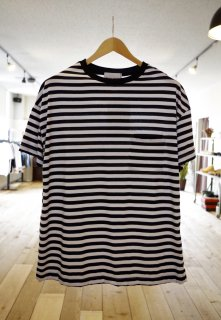 Vincent et Mireille   CREW NECK STRIPED BIG T-SHIRTS