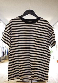 Vincent et Mireille Ladies   CREW NECK STRIPED BIG T-SHIRTS
