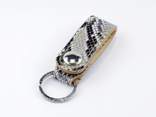 キーホルダー ベルトホルダー式 オールパイソン(内側ナチュラル) (縫い糸ナチュラル)