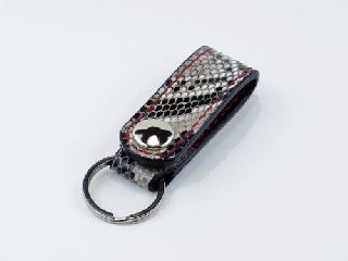 キーホルダー ベルトホルダー式 オールパイソン(内側ブラック) (縫い糸レッド)