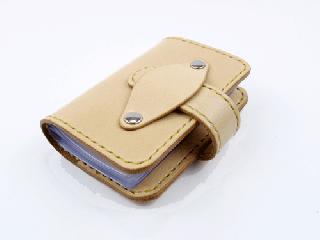 20枚収納カードケース ナチュラル(縫い糸ナチュラル)