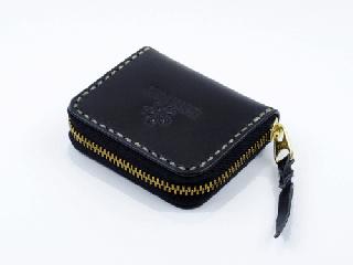 ミニコインパース ブラック(縫い糸ナチュラル)