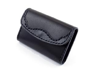 名刺/カードケース ブラック(縫い糸ブラック)