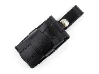 携帯ケース(ガラケー用) ブラック(縫い糸ブラック)