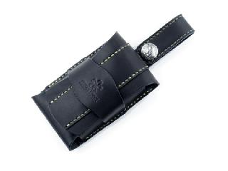 iPhoneケース 4インチ用(SE,5S,5対応) ブラック(縫い糸ナチュラル)