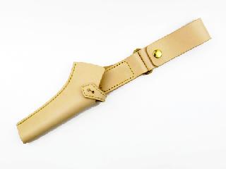 フィッシュホルダーケース ボタン留め仕様 ナチュラル(縫い糸ナチュラル)真鍮金具
