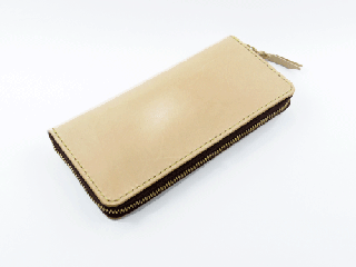 ジッパーロングウォレット ナチュラル(縫い糸ナチュラル)